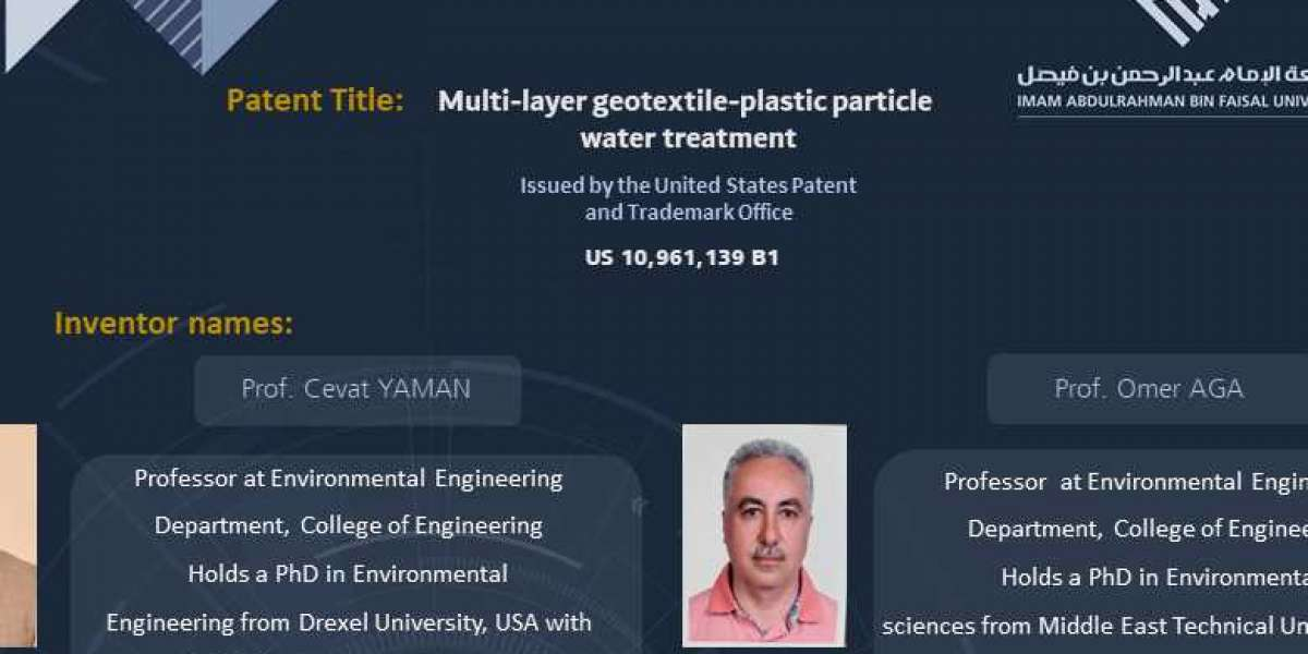 US Patent for Multi-layer geotextile-plastic particle water treatment system bagged by IAU Researchers